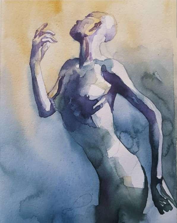 [RISEN] watercolor by @behnoush.key